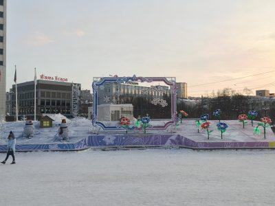Площадь Пяти Углов в Мурманске