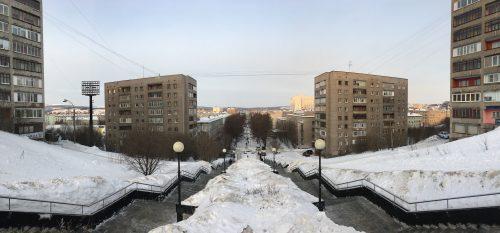 Вид на Площадь Пяти Углов