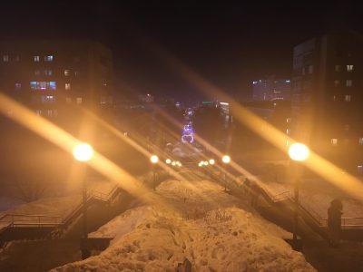 Ночной вид на Площадь Пяти Углов