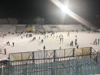 Ледовый каток в центре Мурманска