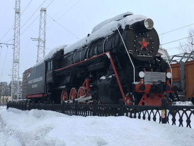 Паровоз в городе Мурманск