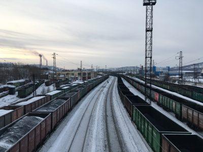 Вид на железную дорогу