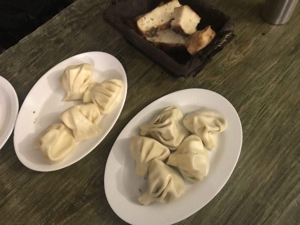 Хинкали с сыром и грибами