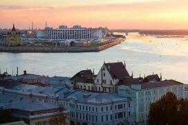 Нижний Новгород: Столица Закатов. Вид на Стрелку